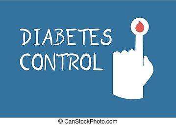 panowanie, symbol, karta, cukrzyca