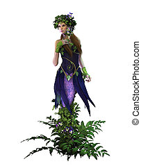 Pansie, 3d CG CA - 3d computer graphics of a fairy with...