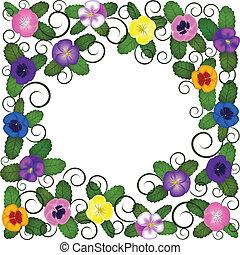 pansies frame