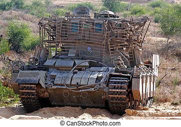 pansrad, återvinnande, fordon
