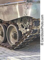 pansrad, cistern, off-road, strid, specificera, återstående tid spåret, fordon, militär, hjul, eller
