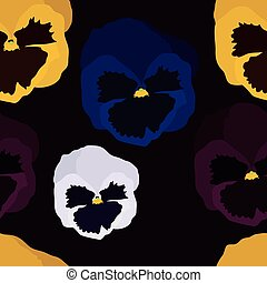 Pansy flowers background