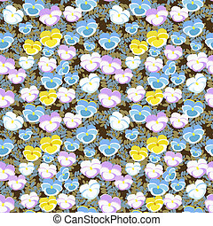 Pansy seamless pattern