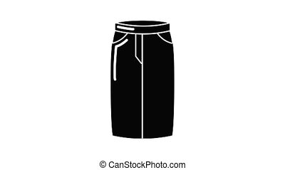 Pant jeans icon animation simple best object on white