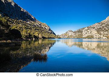 Panta de Gorg Blau, Majorca - beautiful mountain lake Panta...