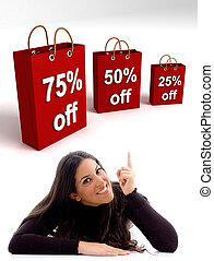 pantalló, bevásárlás, woman lényeg
