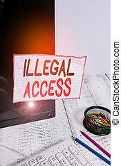 pantalla, contraseña, stationary., ilegal, sin, grabado,...