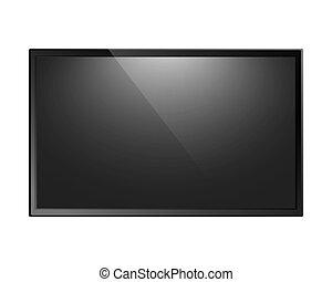 pantalla de tv, aislado