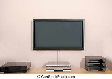 pantalla de tv, plasma, hifi