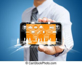 pantalla del tacto, teléfono móvil