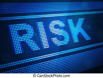 pantalla, digital, riesgo, ilustración, 3d