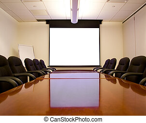 pantalla, habitación de reunión