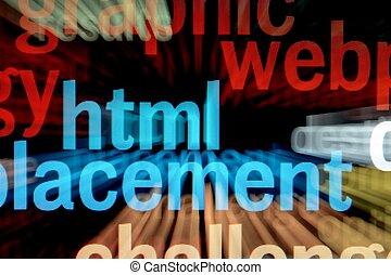 pantalla, html, -, monitor