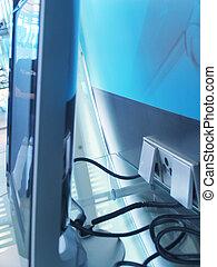 pantalla plana, cables