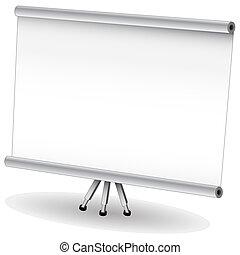pantalla, presentación, proyector