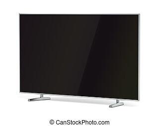 pantalla, televisión, plano