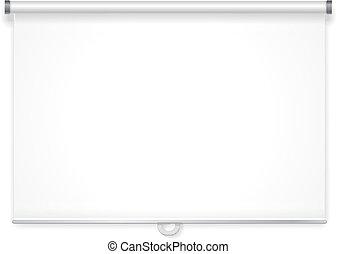 pantalla, vector, proyección, vacío