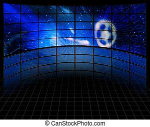 pantallas, vídeo