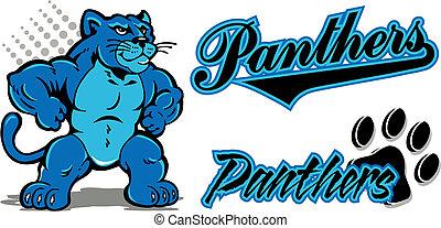 pantera, mascote, nome, equipe