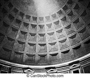 panthéon, romain,  dôme, lumière