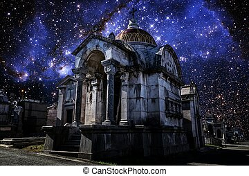 Pantheon and Small Magellanic Cloud (Elements of this image...