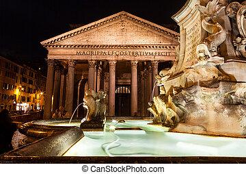 Pantheon at Night, Rome
