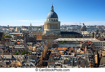 Pantheon in Paris from above