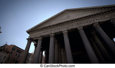 Pantheon in Rome Italy - Pantheon is former Roman temple, now a church, in Rome, Italy, completed by emperor Hadrian in 126 AD, famous building of the Ancient Rome.