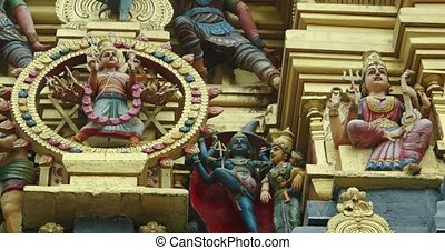 Pantheon of Miniature Hindu Gods on an Elaborate Altar - ...