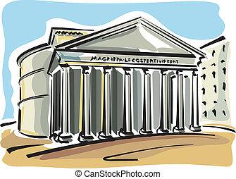 (pantheon), roma