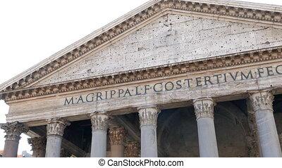Pantheon, Rome, Italy. UltraHD (4K)