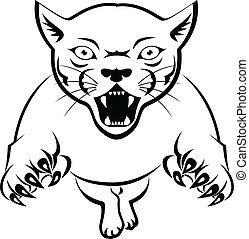 Panther Acttacking