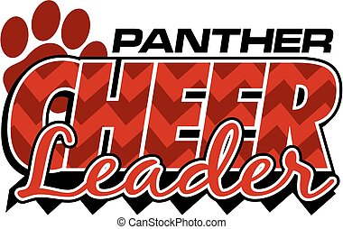 panther cheerleader team design with chevrons and paw print