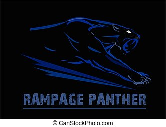 panther, fang face muscular panther - fang face muscular...