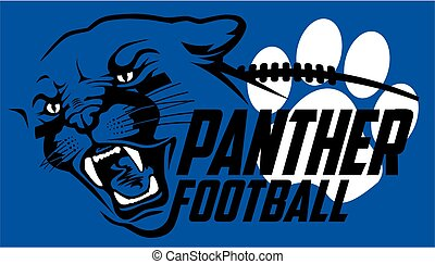 panther football team design with mascot head for school,...