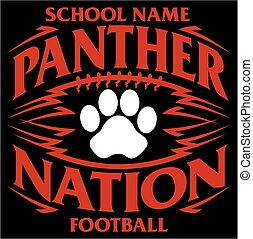 panther football - panther nation football team design with...