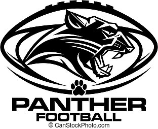 panther football mascot team design for school, college or...