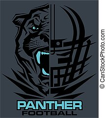 panther football team design with mascot and facemask for...
