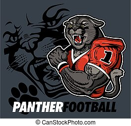 panther football team design with panther mascot for school...