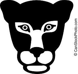 Panther head gepard