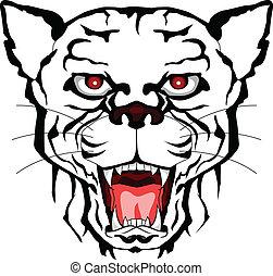 panther head tattoo tribal