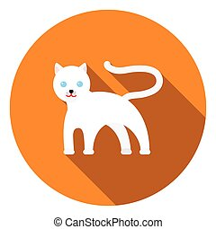 Panther icon in flat style isolated on white background. Animals symbol stock vector illustration.