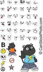panther kid cartoon set 1