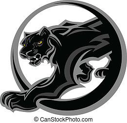 Panther Mascot Body Vector Graphic