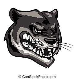 Panther mascot, team label design. - Panther mascot,...