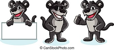 Panther Mascot Vector pose