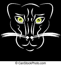 Panther on black background