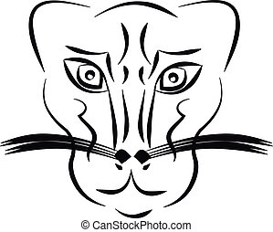 Panther on white background