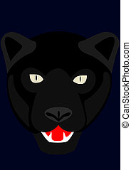 Panther - Part of the body black panther. The illustration...