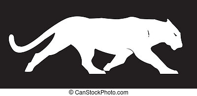 Panther Silhouette Vector Clipart